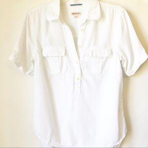 Merona • White Quarter Button Pocket Shirt